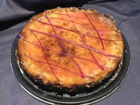 Rhabarbert-Tarte mit Frischkäse