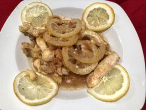 Hühnerbrust an Zitronensauce