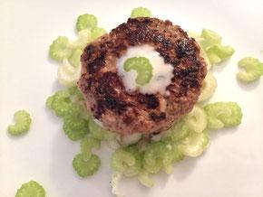 Kalbfleisch-Burger