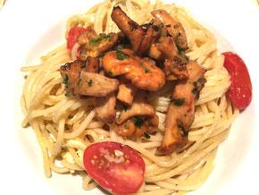Spaghetti mit Pfifferlingen