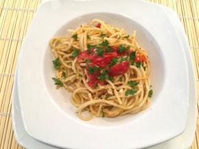 Spaghetti-Resten