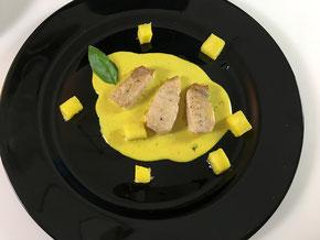 Mondfisch an Currysauce