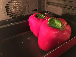 Mit Couscous gefüllte Peperoni