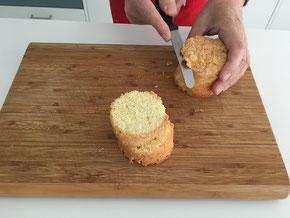 Kleine Savoyer Biskuit-Kuchen