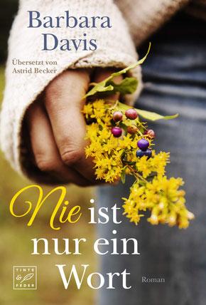 Das Buchcover zeigt eine Hand die einen kleinen gelben Blumenstrauß hält.