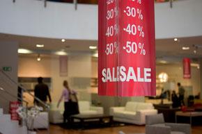 Deckenanhänger im Einzelhandel