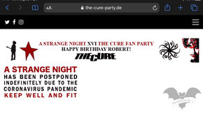 Screenshot von der The-Cur-Party Webseite vom 26. April 2020