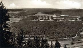 Dorf Achenbach um 1937 mit Heidenbergkasernen
