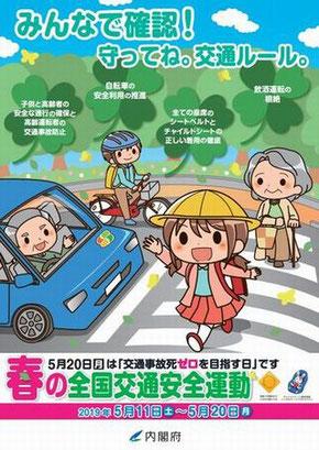 春の全国交通安全運動ポスター