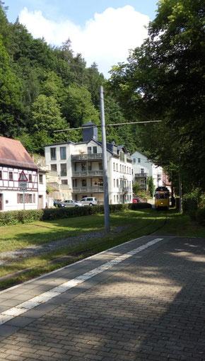 Die Kirnitzschtalbahn, Nostalgie, Ticket,Tageskarte, Stationen Beuthenfall
