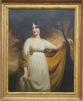Mrs. John Campbell of Kilberry, Henry Raeburn, c. 1802. Städel, Frankfurt. picture taken by Nina Möller  -  Regency Empire fashion dress