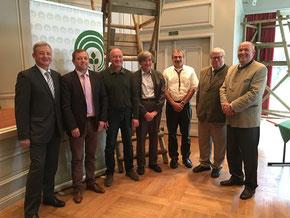 von links: Dirk Ender, Hartmut Fanck, Heinrich Jungheim, Martin Adelmann, Volker Dippel, Dr. Volker Wolfram, Dr. Rudolf Leinweber.