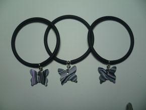 bracciali in silicone con charms in fimo