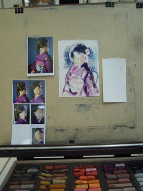 制作 人物画 肖像画 パステル画 パステル画教室