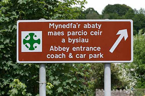 road sign / courtesy of Photolibrary Wales