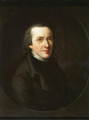 Matthias Claudius. Ölporträt von Friederike Leisching (um 1797) Hamburg Museum (Inventar-Nr. 1951,82)