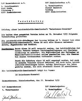 Die Gründungsvereinbarung 1979