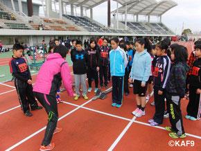 オリンピック選手による走り方クリニック