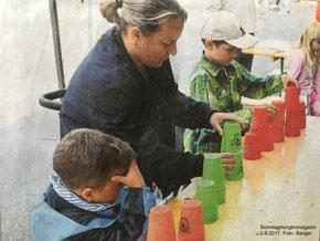 Speed Stacking kam bei den Kleinen gut an // Foto: Sonntagmorgenmagazin, Berger
