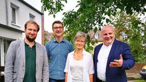 Freuen sich auf das Jubiläum (v. l.): Jakob Andrack, Gabriel Brand, Imogen Kasemir-Arnold und Matthias Schmid (Foto: sis)