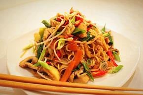 Japnaisch Kochen Rezept Yakisoba Asiatische Gebratene Nudeln