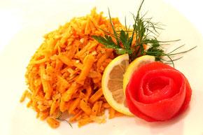 Russischer Möhren Salat Rezept Karrotensalat russisch kochen Vegane Küche Vegetarisch