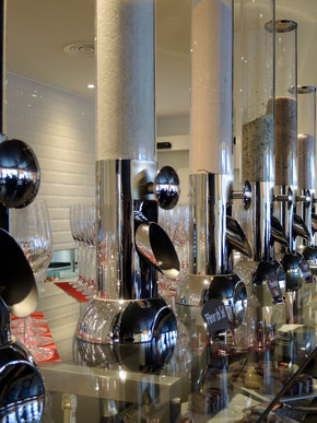 Salzsäulen im Restaurant des zurzacherhofs