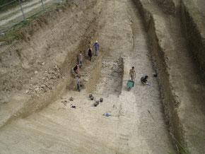 Grabungsschnitt - Aktivurlaub Archäologie