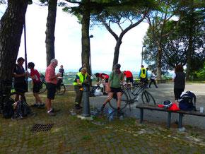 Italien, Toskana, Urlaub, Radreisen, Velotraum, Radfahren, Montefiascone, Pause