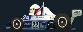 Elio de Angelis by Muneta & Cerracín -  Italian Champion Chevron B38 in 1977, winning at Monaco en 1978.