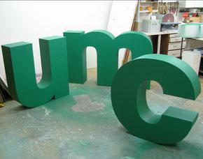 Herstellung Buchstaben H, 100 cm