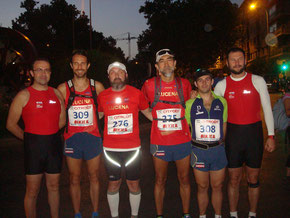 Los valientes compañeros del Club Maratón Lucena, en los momentos previos a la dura prueba granadina. PINCHA MÁS FOTOS