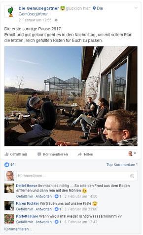 Facebook im Bioladen - Inhalte2