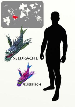 Seedrache und Feuerfisch
