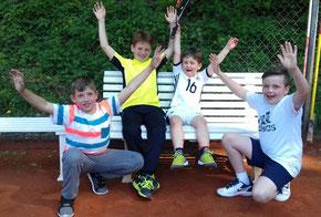 v.l.n.r.: Max Widowski, Michael Rotfuss, Marlon Küppers, Mads Schaaf