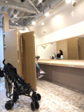 池袋 子供 特化 カット キッズカット 予約 子供カット 完全個室 美容室 サロン ベビーカー 店内写真