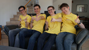 Thomas, Alexander, Andreas und Michael (von links)