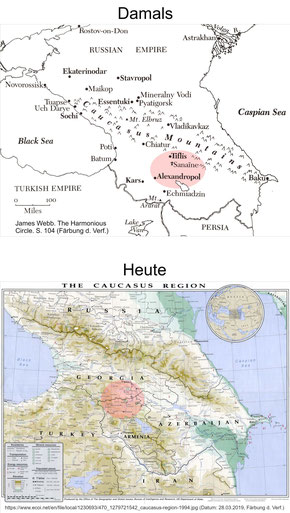Gurdjieffs Geburtsort Alexandropol und erstes Wirken in Tiflis