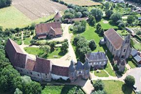 Maison d'Arville, vue aérienne.
