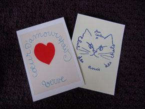 お土産のカード。マティスとコクトー。