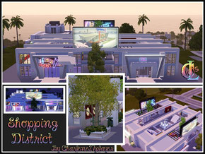 Image Shopping District ( centre commercial Sims 3 )