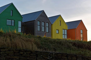 bunte Häuser in John O'Groats