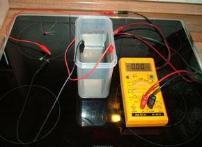 Stromkreis an einem GANS-Aufbau mit LED als LAST