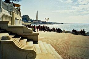 wunderschöne Ufer-Promenade