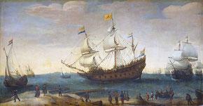 Ausfahrt der Ostindiensegler: Hendrick Cornelisz. Vroom um 1630–1640