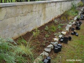 Sadnja trajnica i ukrasnih trava, Vrtlarija kalići