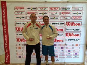 Finalist Bock und Sieger Jakunin