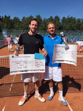 Finalist P.Wulf und Sieger Jakunin