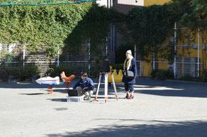 4丁目公園は近くの保育園の園児がよく利用する
