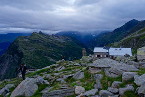Morgenstimmung vor der Adulahütte